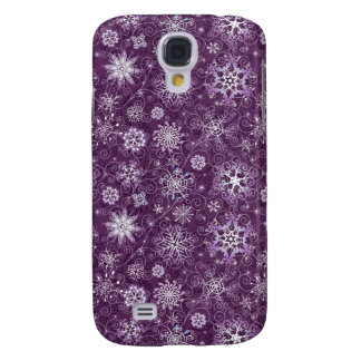 Purple Snowflakes for Chronic Pain Galaxy S4 Case