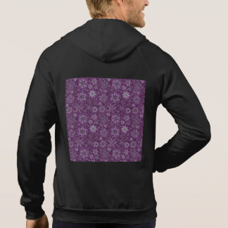 Purple Snowflakes for Chronic Pain Hoodie