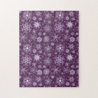 Purple Snowflakes for Chronic Pain Jigsaw Puzzle