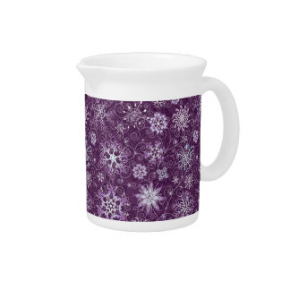 Purple Snowflakes for Chronic Pain Pitcher