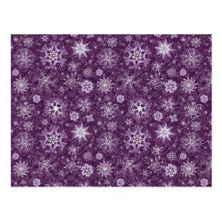 Purple Snowflakes for Chronic Pain Postcard