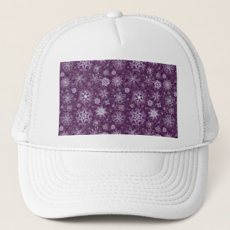 Purple Snowflakes for Chronic Pain Trucker Hat