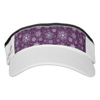 Purple Snowflakes for Chronic Pain Visor