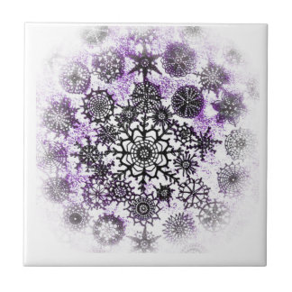 Purple Snowflakes TIle