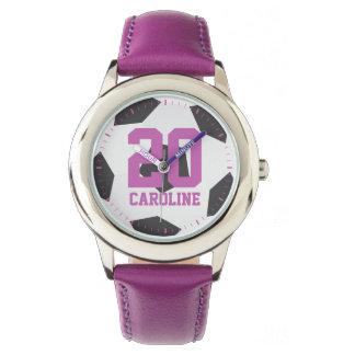 Purple Soccer Ball Girl's Watch