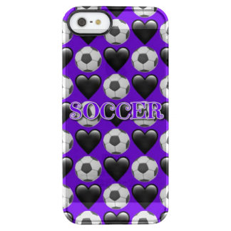 Purple Soccer Emoji iPhone SE/5/5s Clearly™Case Clear iPhone SE/5/5s Case