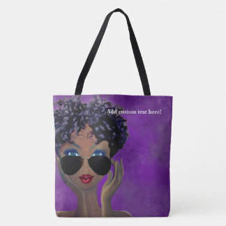 Purple Sorority Black Art Gift Tote Bag
