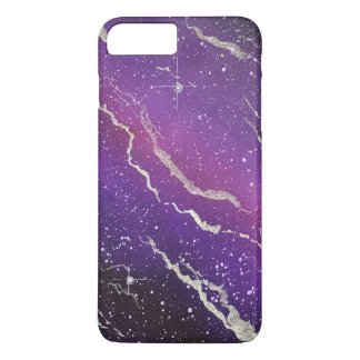Purple Space Galaxy iPhone Case