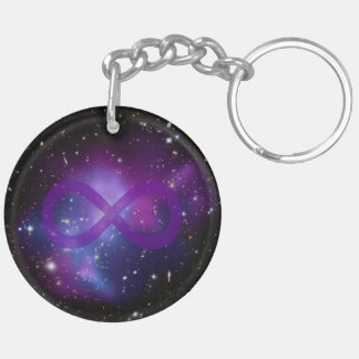 Purple Space Image Key Ring