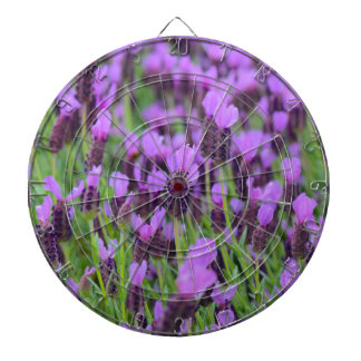Purple Spanish Lavender Flower Dartboard