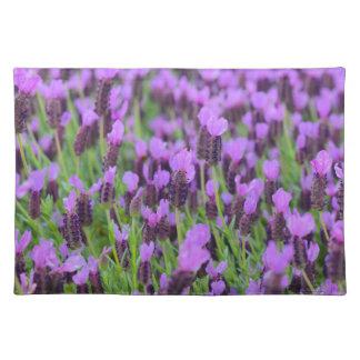 Purple Spanish Lavender Flower Placemats