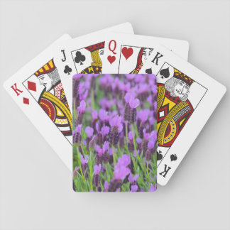 Purple Spanish Lavender Flower Playing Cards