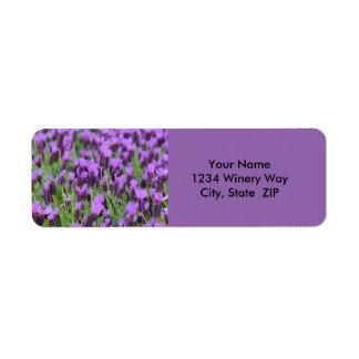 Purple Spanish Lavender Flower Return Address Label