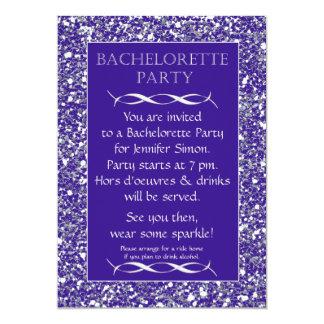 Purple Sparkle Look Bachelorette Party Invitation