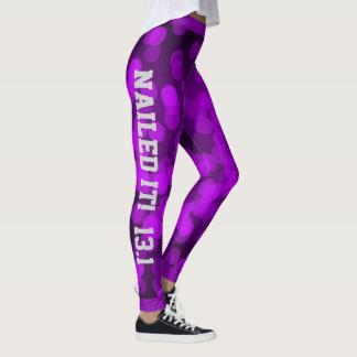 Purple Sparkle Nailed it Leggings