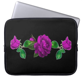 Purple Sparkle Rose Electronics Sleeve