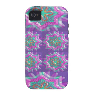 PURPLE Sparkle Star Pattern Goodluck Holy fun GIFT iPhone 4/4S Cases