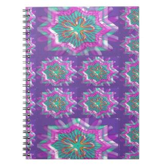 PURPLE Sparkle Star Pattern Goodluck Holy fun GIFT Notebooks