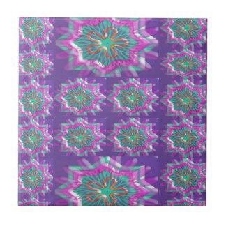 PURPLE Sparkle Star Pattern Goodluck Holy fun GIFT Tile