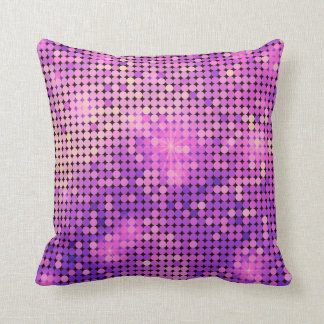purple sparkles throw pillow