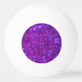Purple Sparkly Glam Glittery Girly Ping Pong