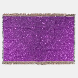 Purple Sparkly Glitter Throw Blanket