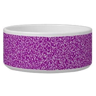 Purple Speckled Dog Bowl