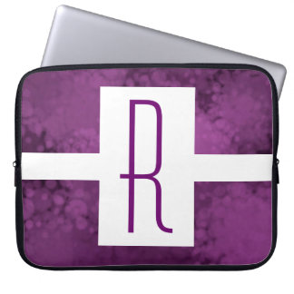 Purple Speckled Monogram Laptop Sleeve