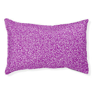 Purple Speckled Pet Bed