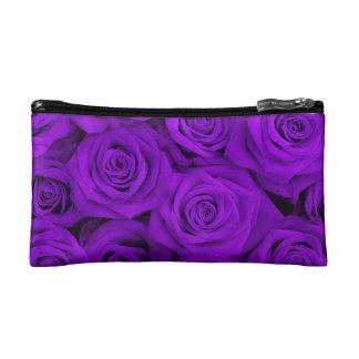 Purple Spectacular Roses Makeup Bag