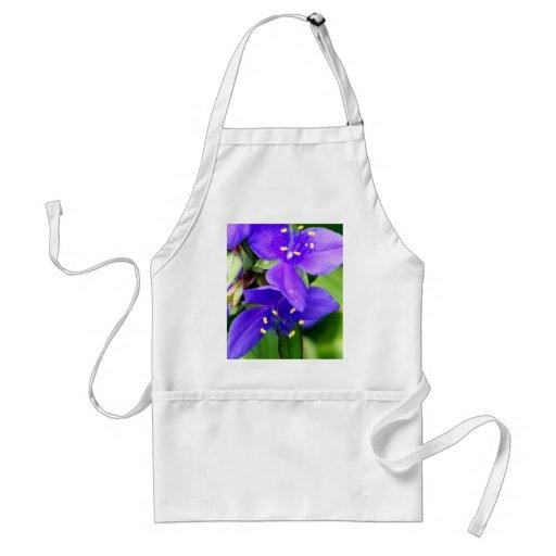 Purple Spider Flowers Aprons