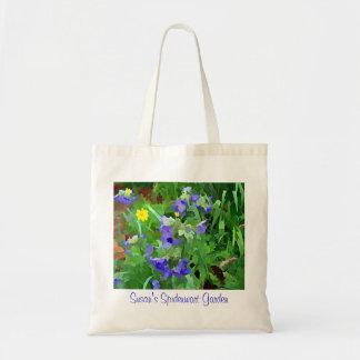 Purple Spiderwort Flora Garden Bag