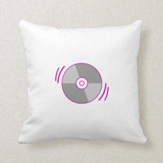 Purple Spinning CD Throw Pillows