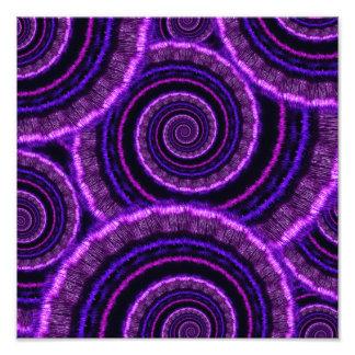 Purple Spiral Fractal Art Pattern Photo Print