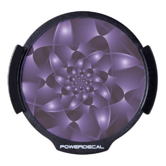 Purple Spiral Fractal LED Window Decal