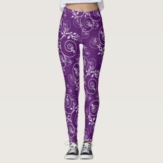 Purple Spiral Leggings