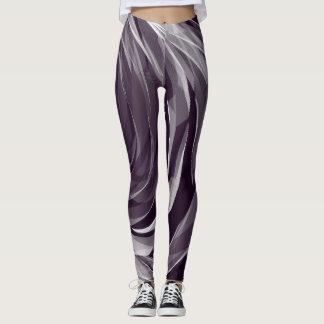 Purple Spiral Pattern1 - Leggings
