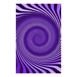 Purple Spiral Personalised Stationery