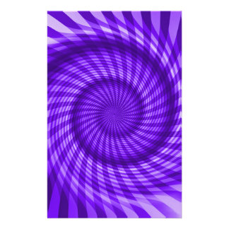 Purple Spiral Personalized Stationery