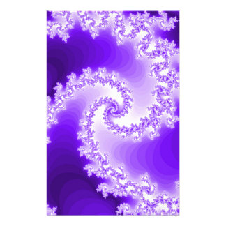 Purple Spiral Customized Stationery