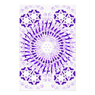 Purple Spiral Stationery Paper