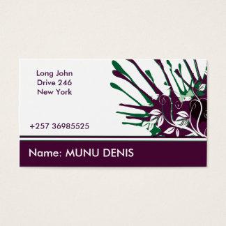 Purple Splash Business Card