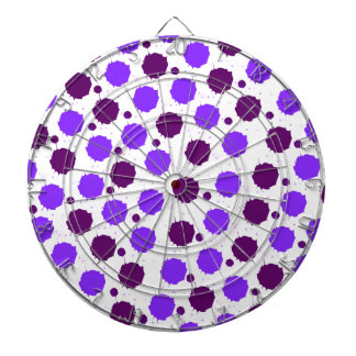 Purple Splash Dots Dart Boards