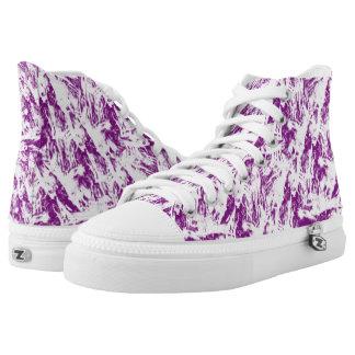 Purple Splasher Printed Shoes
