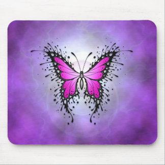 Purple Splatter Butterfly Mouse Pad