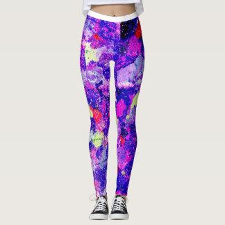 Purple Splatter Leggings