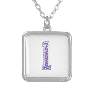 Purple Sports Jerzee Number 01 Custom Jewelry