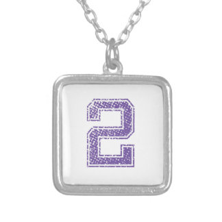 Purple Sports Jerzee Number 02.png Custom Necklace