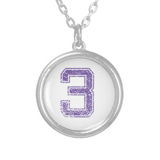 Purple Sports Jerzee Number 03.png Custom Necklace
