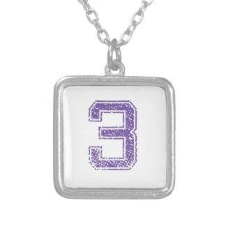 Purple Sports Jerzee Number 03.png Jewelry
